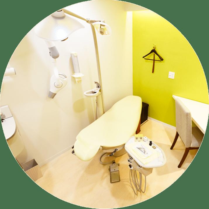 横浜市青葉区 うかい歯科医院 診療室、全て個室です!プライバシーが守られます